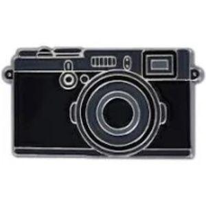 Vintage Black Camera Enamel Pin